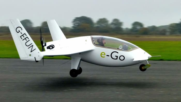 e-Go avion privat
