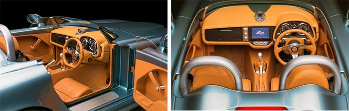 Detalii bord Bristol Bullet Speedster