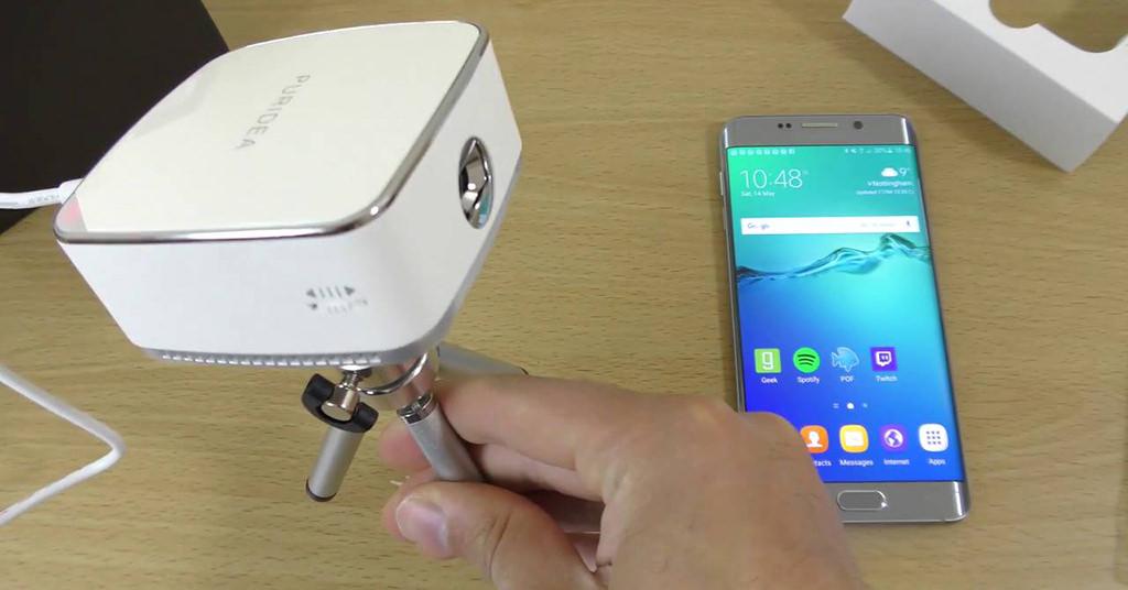Puridea W1 este mini proiectorul tau portabil