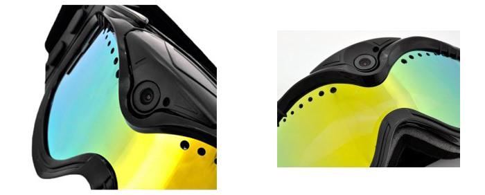 Detaliu ochelari smart pentru schi STAR