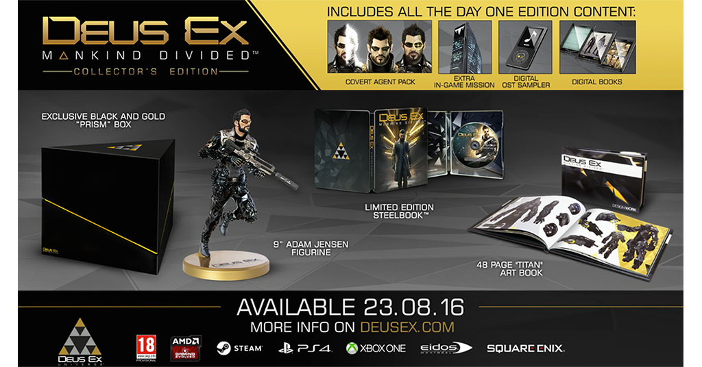 Deus Ex Mankind Divided Collectors Edition – povestea continua