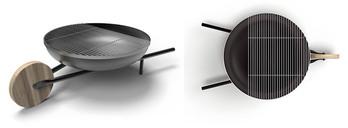 Gratar roaba Wheelbarrow Barbecue