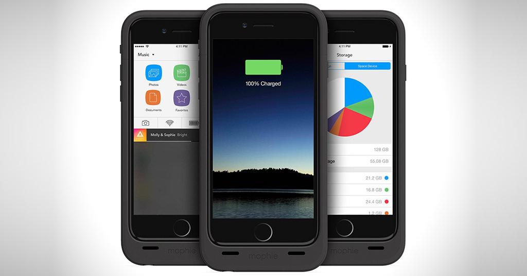 Mophie Space Pack – carcasa cu baterie si memorie pentru iPhone 6 Plus