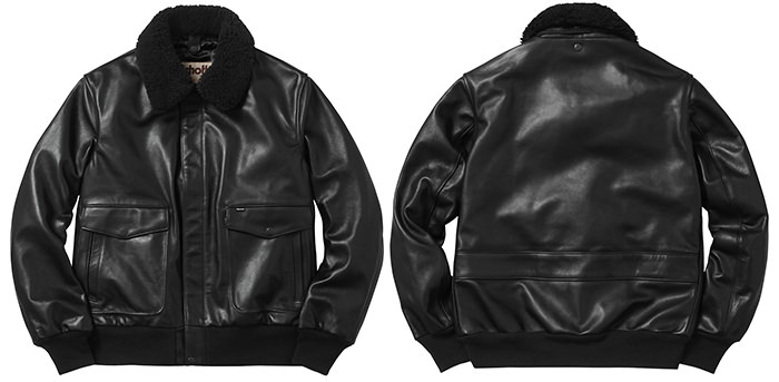 Supreme A-2 Flight Jacket negru