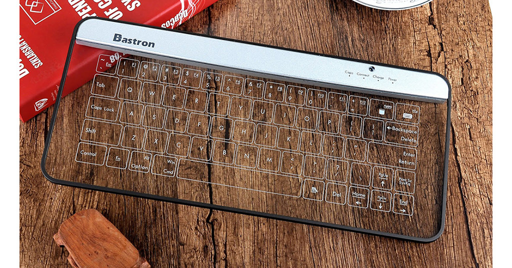 Bastron B9 Glass Bluetooth Keyboard – o tastatura cu un design unic
