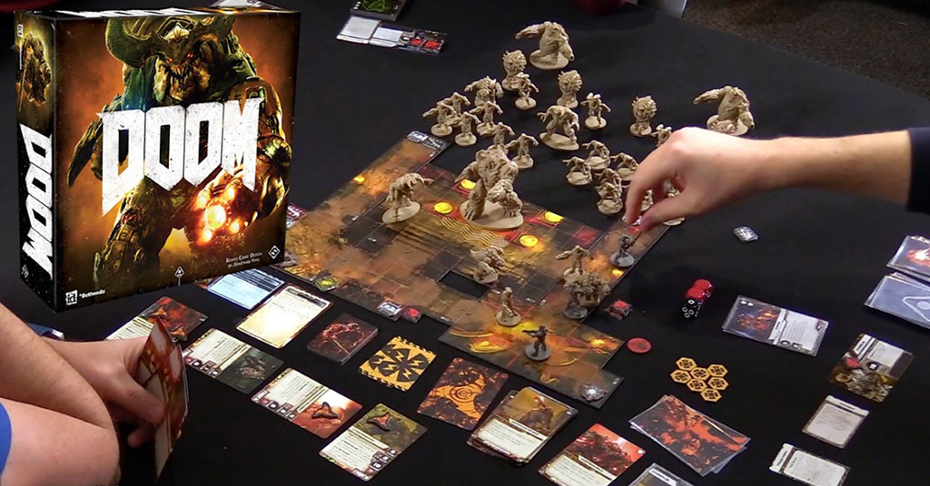 DOOM board game – de pe monitorul PC-ului, pe tabla de joc