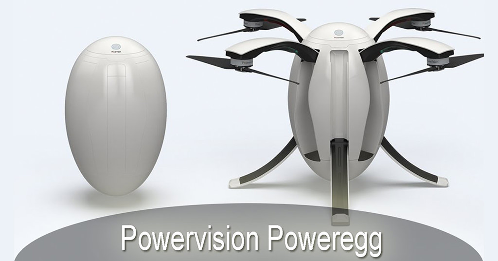 Drona PowerEgg de la PowerVision – performanta are o noua forma